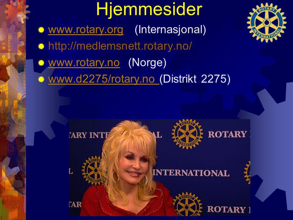 Hjemmesider www.rotary.org (Internasjonal)