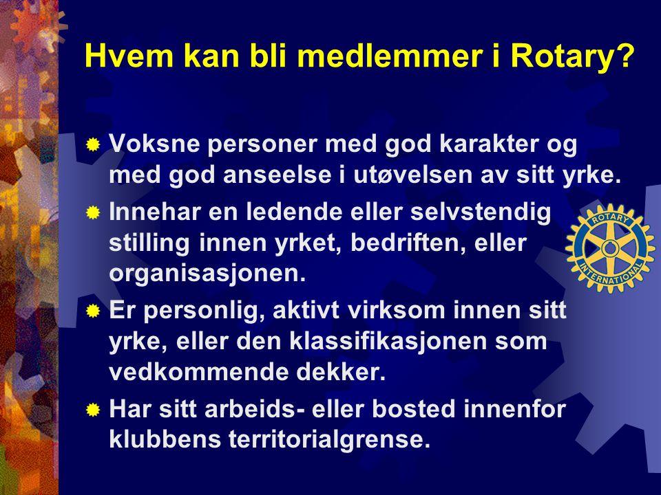 Hvem kan bli medlemmer i Rotary