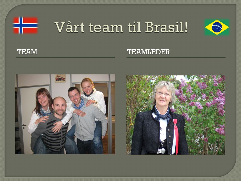 Vårt team til Brasil! Team TEamleder