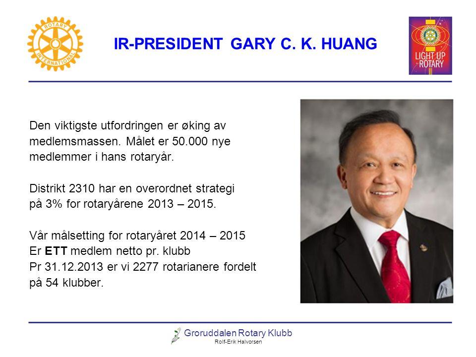 IR-PRESIDENT GARY C. K. HUANG