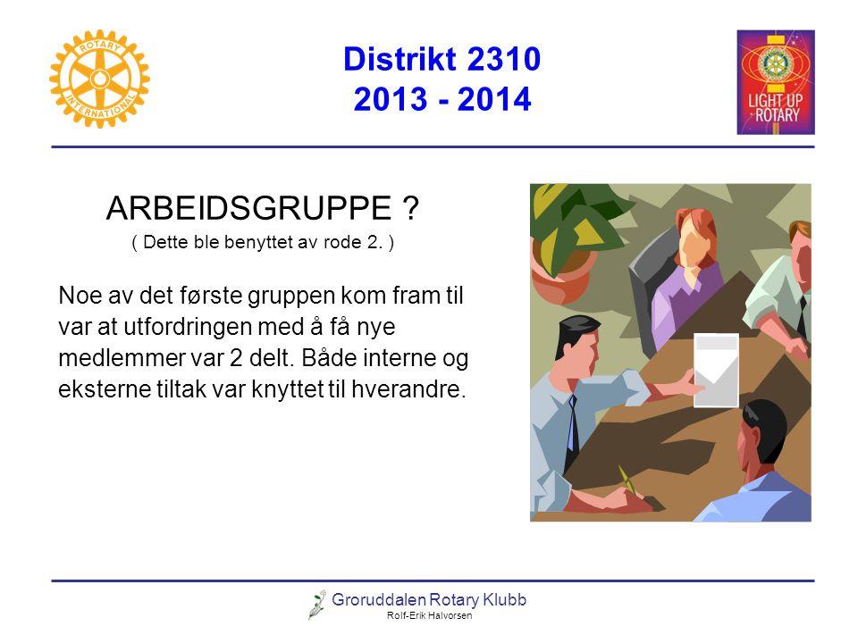 Distrikt 2310 2013 - 2014 ARBEIDSGRUPPE