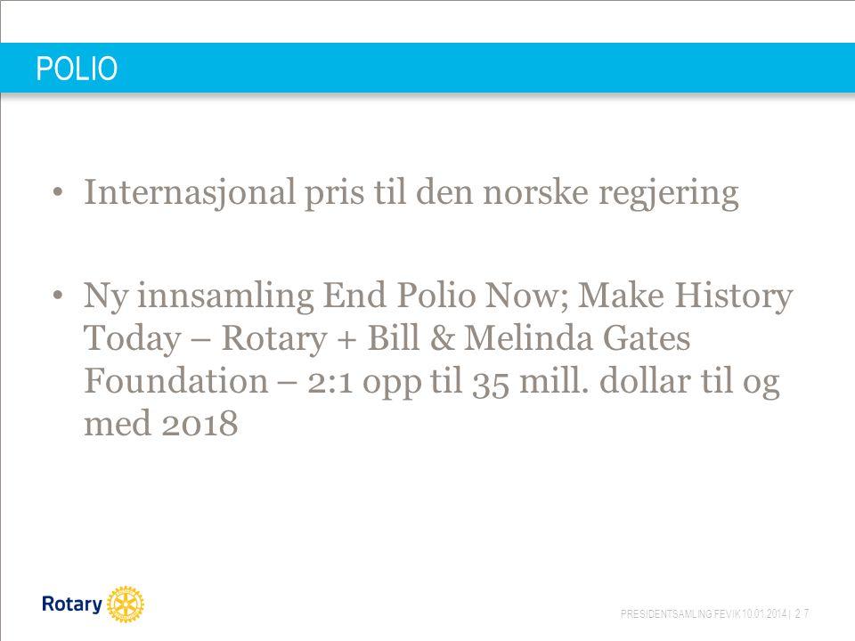 Internasjonal pris til den norske regjering