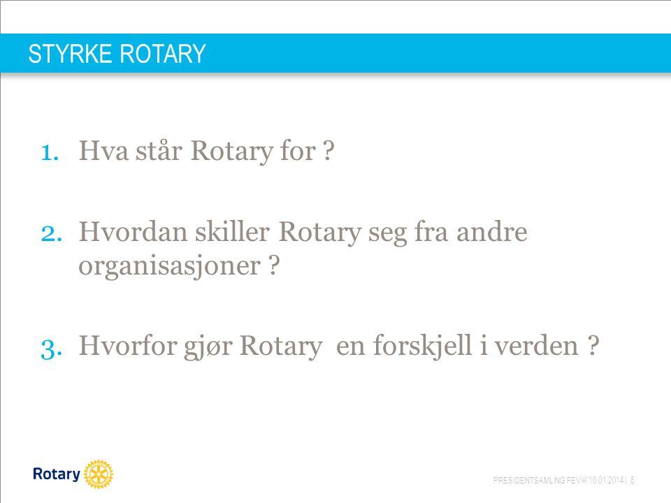 Hvordan skiller Rotary seg fra andre organisasjoner