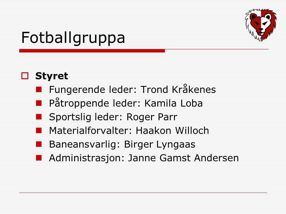 Fotballgruppa Styret Fungerende leder: Trond Kråkenes
