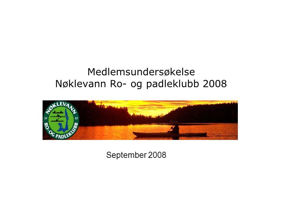 Medlemsundersøkelse Nøklevann Ro- og padleklubb 2008