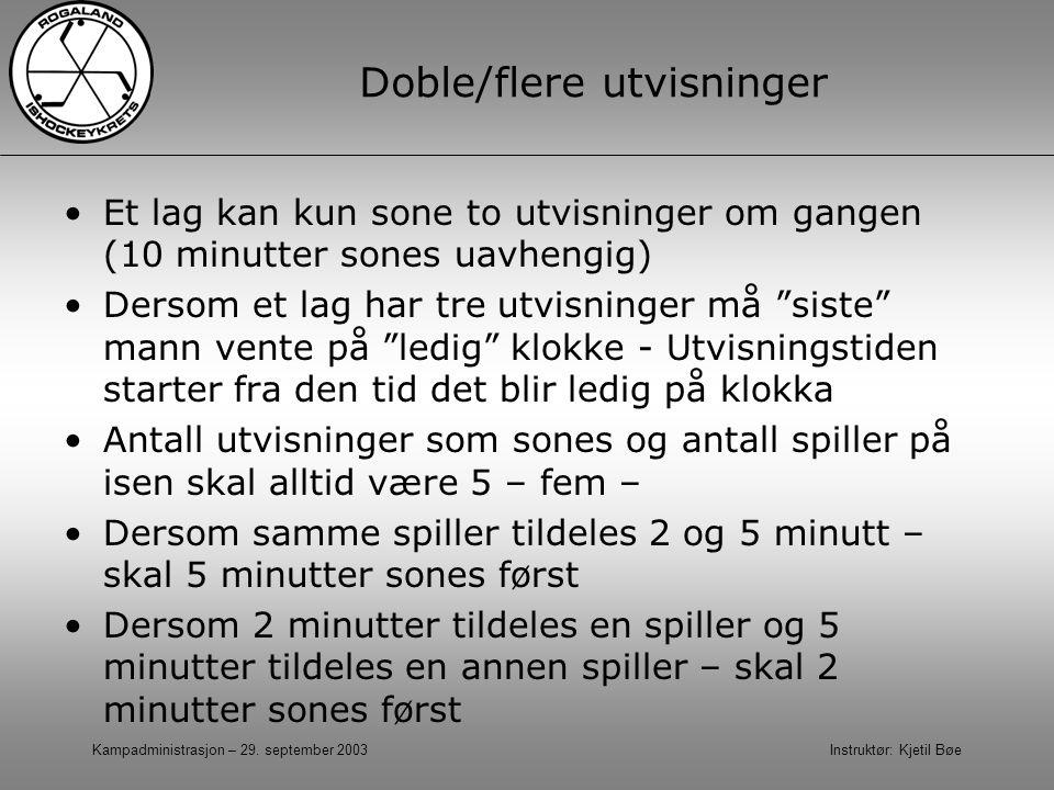 Doble/flere utvisninger