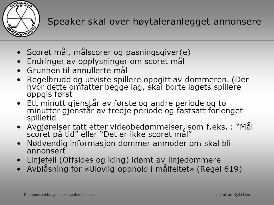 Speaker skal over høytaleranlegget annonsere