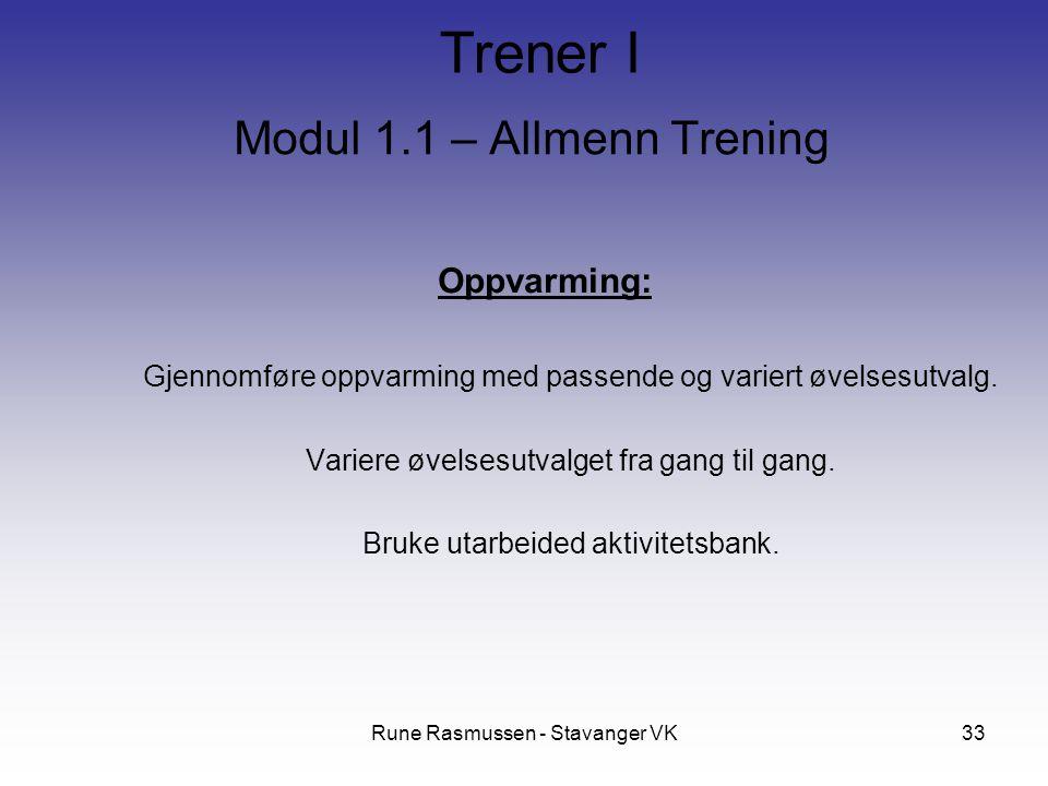 Modul 1.1 – Allmenn Trening