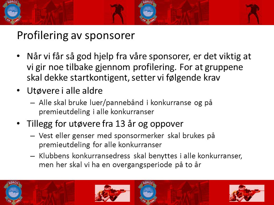 Profilering av sponsorer