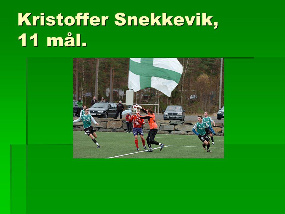 Kristoffer Snekkevik, 11 mål.