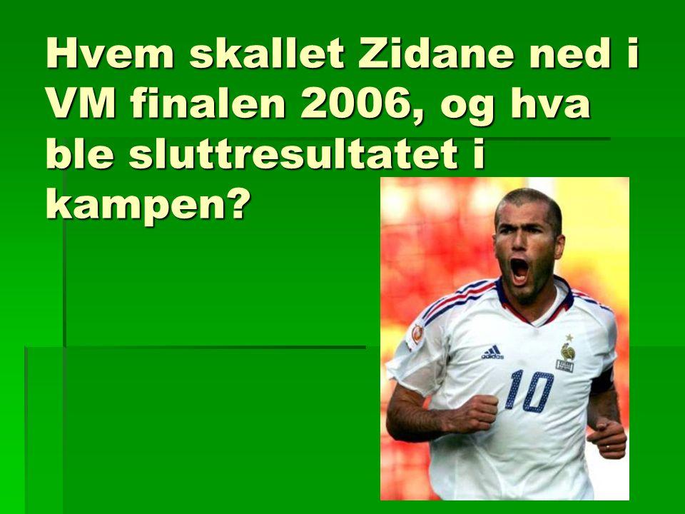 Hvem skallet Zidane ned i VM finalen 2006, og hva ble sluttresultatet i kampen