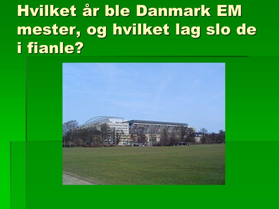 Hvilket år ble Danmark EM mester, og hvilket lag slo de i fianle