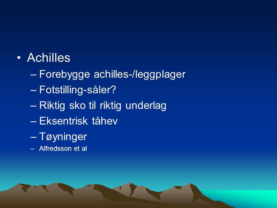 Achilles Forebygge achilles-/leggplager Fotstilling-såler