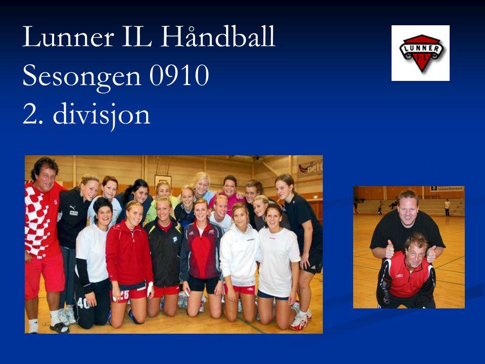 Lunner IL Håndball Sesongen 0910 2. divisjon