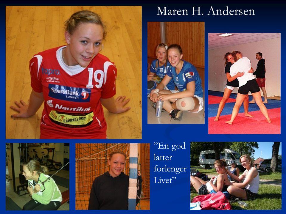 Maren H. Andersen En god latter forlenger Livet