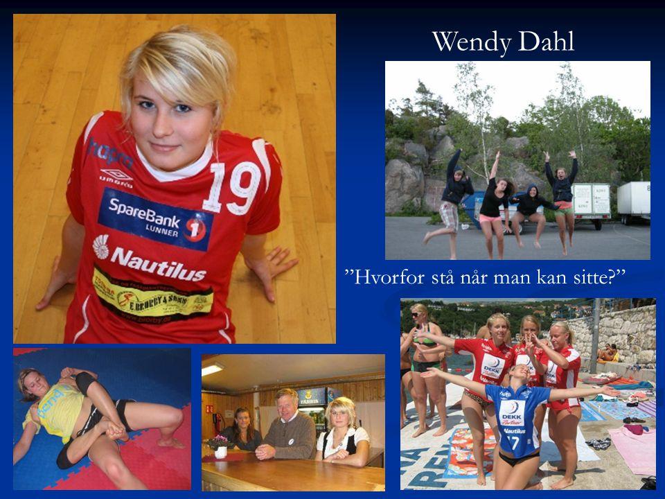 Wendy Dahl Hvorfor stå når man kan sitte
