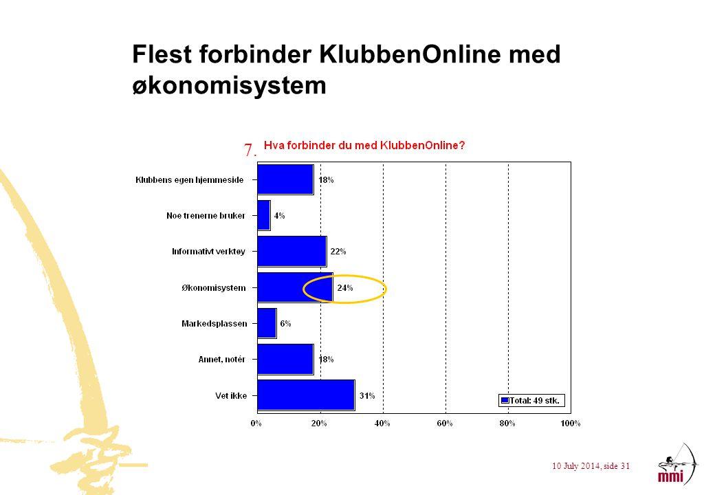 Flest forbinder KlubbenOnline med økonomisystem