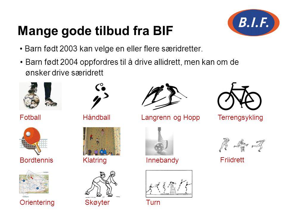 Mange gode tilbud fra BIF