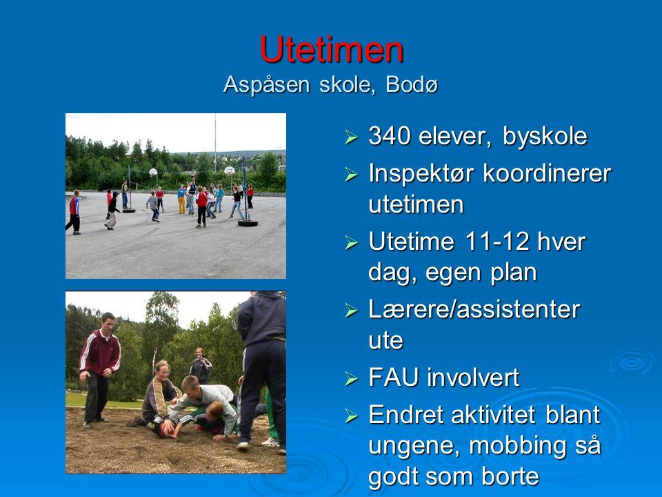 Utetimen Aspåsen skole, Bodø