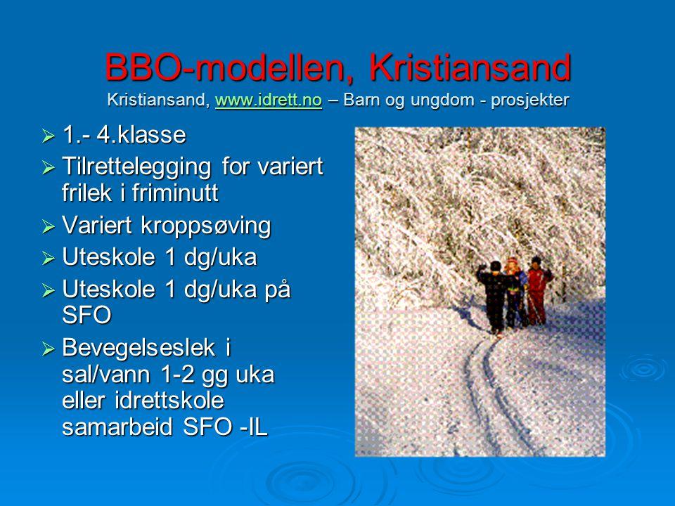 BBO-modellen, Kristiansand Kristiansand, www. idrett