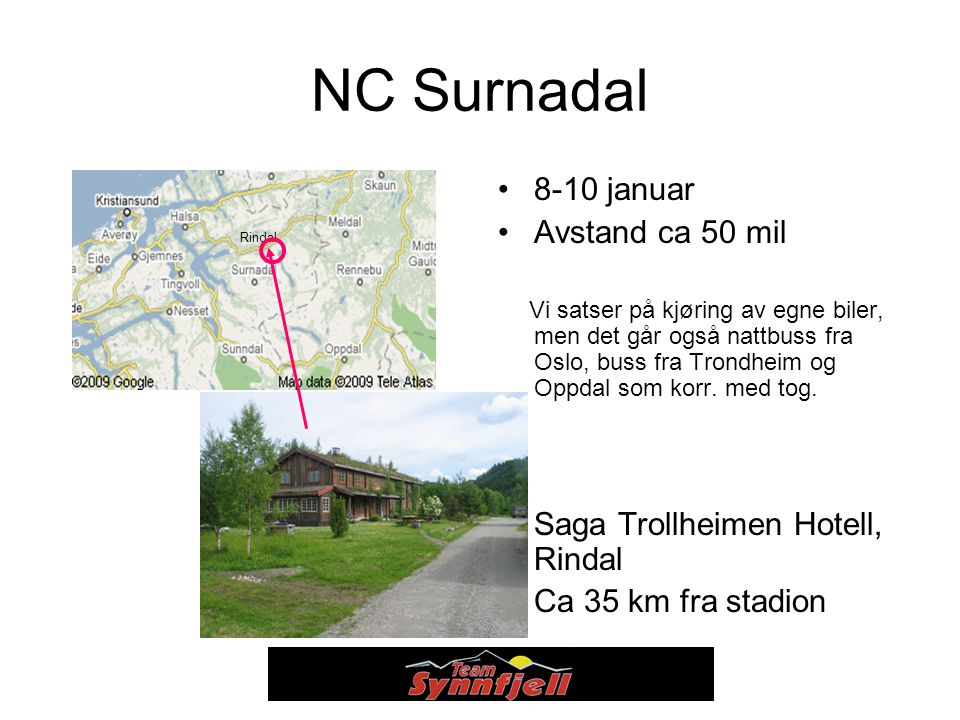 NC Surnadal 8-10 januar Avstand ca 50 mil
