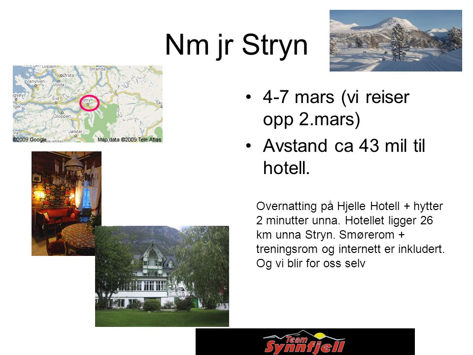 Nm jr Stryn 4-7 mars (vi reiser opp 2.mars)