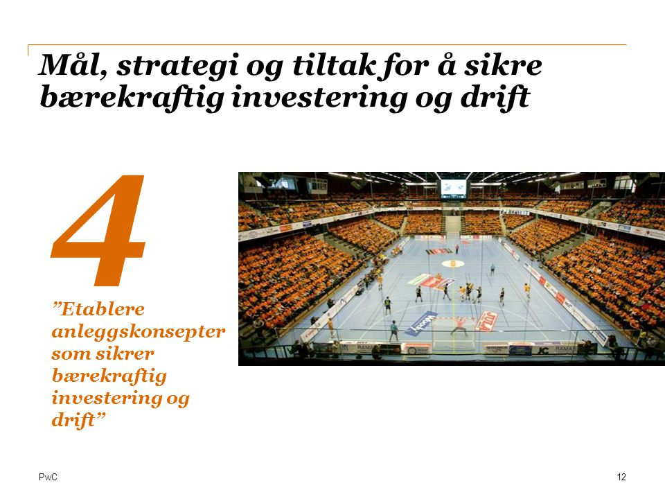 Mål, strategi og tiltak for å sikre bærekraftig investering og drift