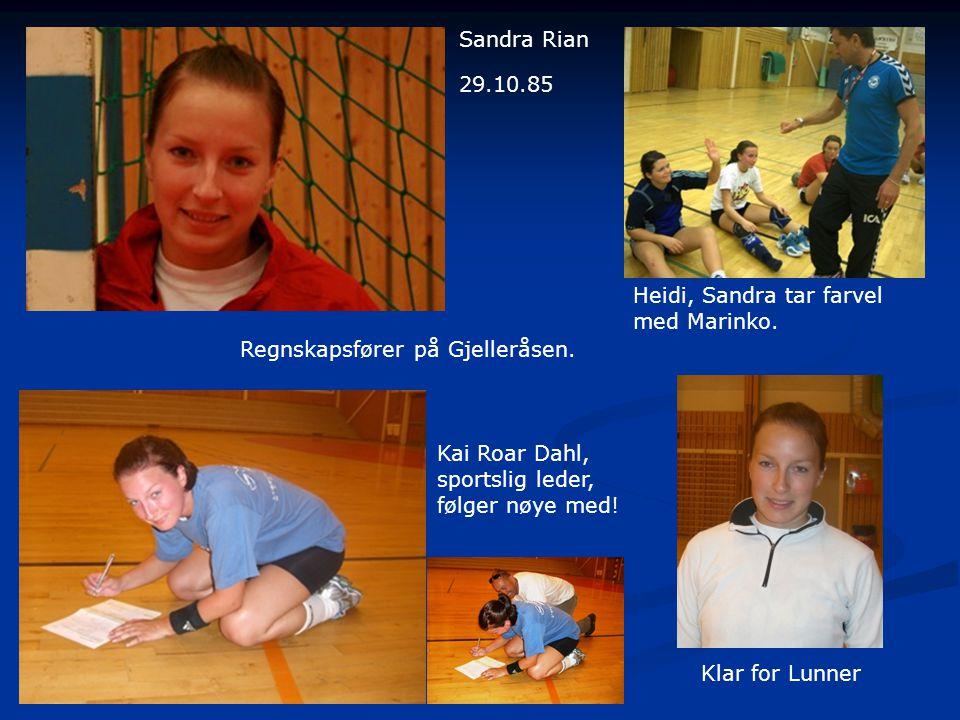 Sandra Rian 29.10.85. Heidi, Sandra tar farvel. med Marinko. Regnskapsfører på Gjelleråsen. Kai Roar Dahl,