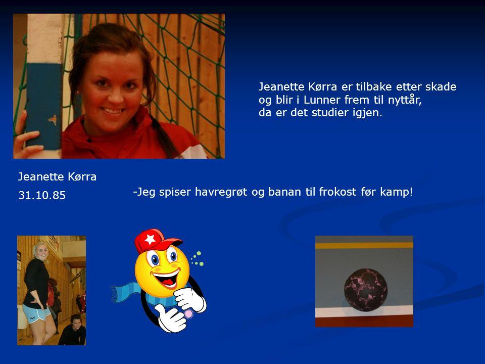 Jeanette Kørra er tilbake etter skade