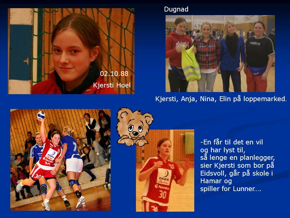 Dugnad 02.10.88. Kjersti Hoel. Kjersti, Anja, Nina, Elin på loppemarked. -En får til det en vil.