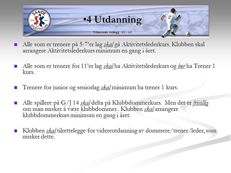 4 Utdanning Tilhørende vedlegg 4.1 – 4.5.