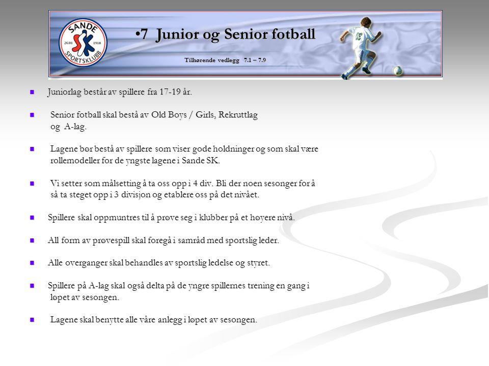 7 Junior og Senior fotball