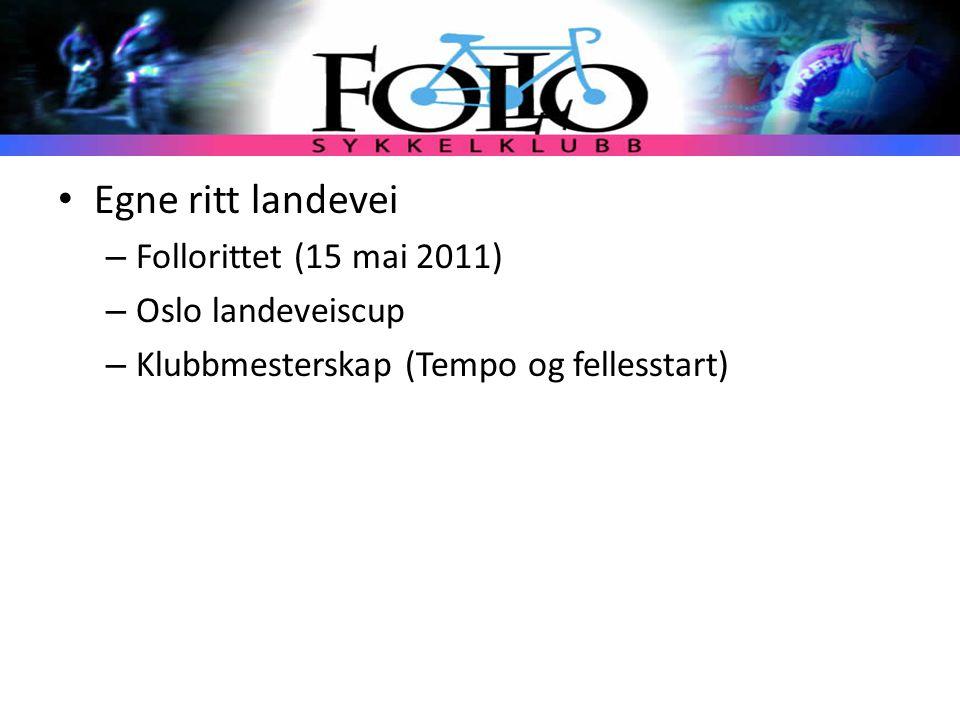 Egne ritt landevei Follorittet (15 mai 2011) Oslo landeveiscup