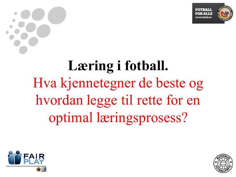 Læring i fotball.