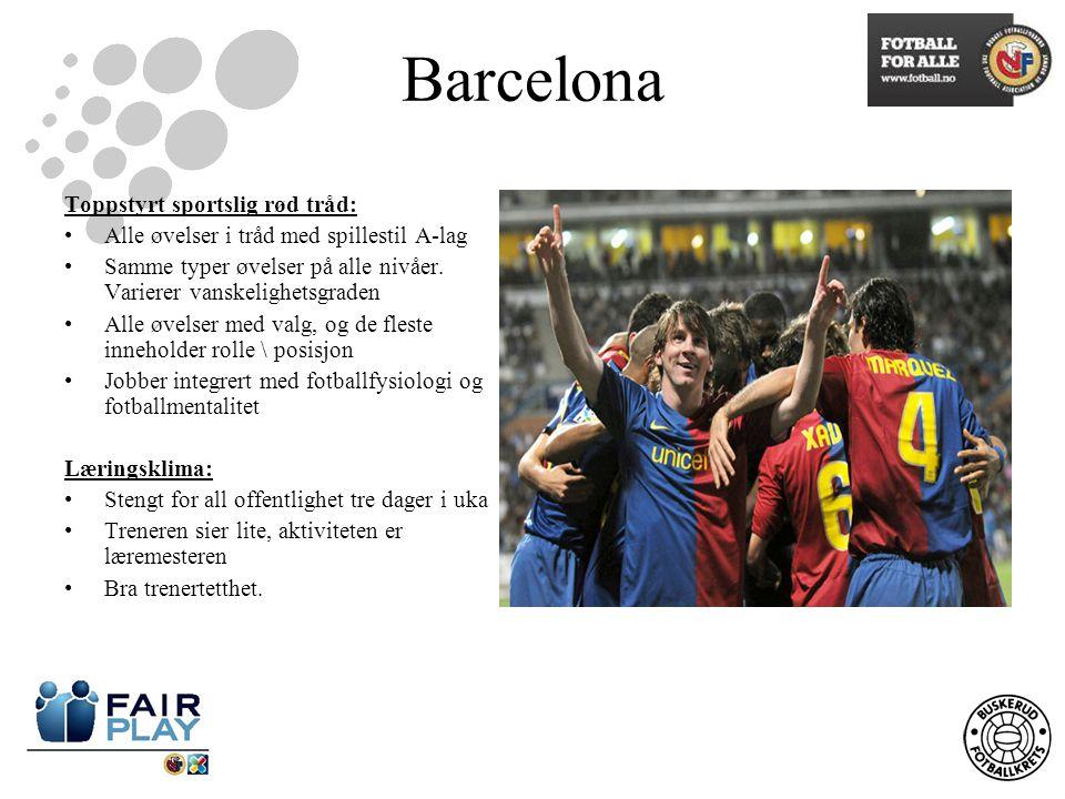 Barcelona Toppstyrt sportslig rød tråd:
