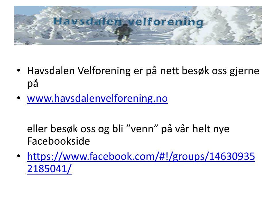 Havsdalen Velforening er på nett besøk oss gjerne på