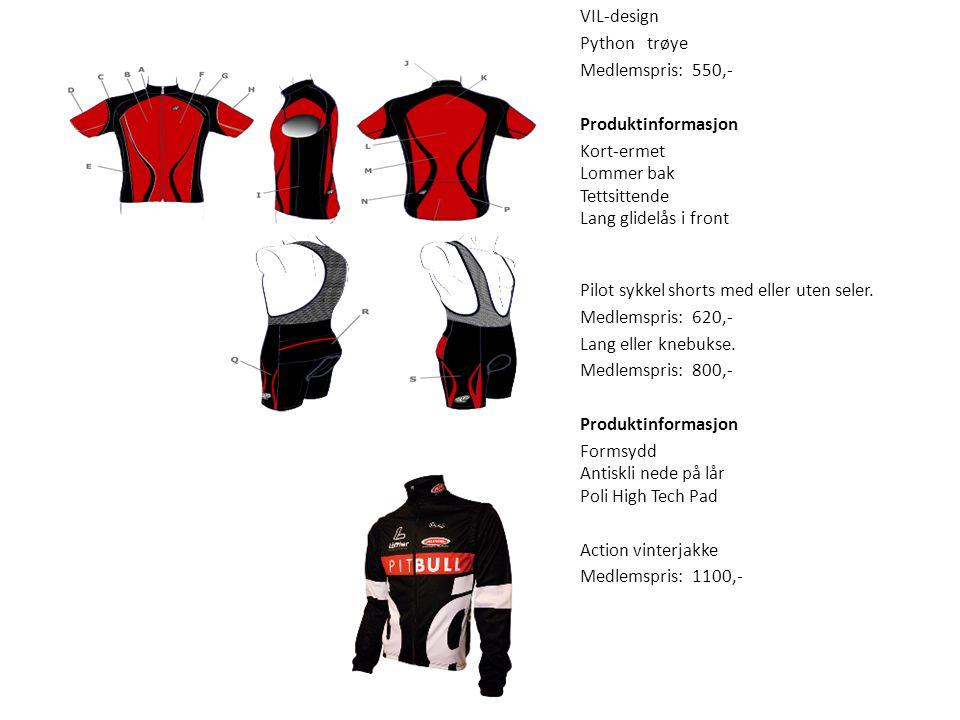 Sykkel VIL-design Python trøye Medlemspris: 550,- Produktinformasjon