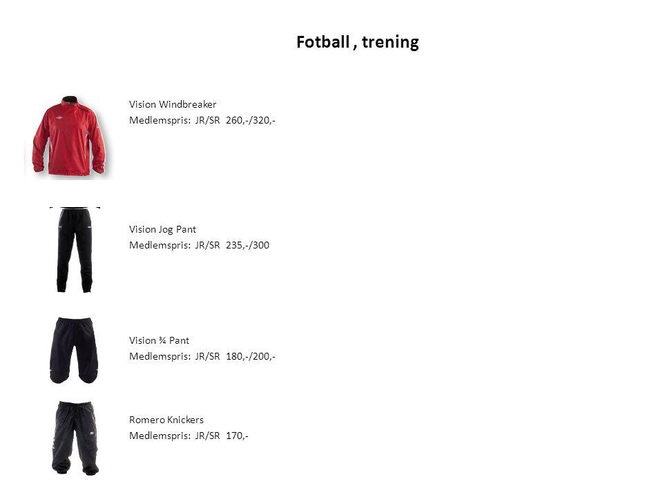 Fotball , trening Vision Windbreaker Medlemspris: JR/SR 260,-/320,-