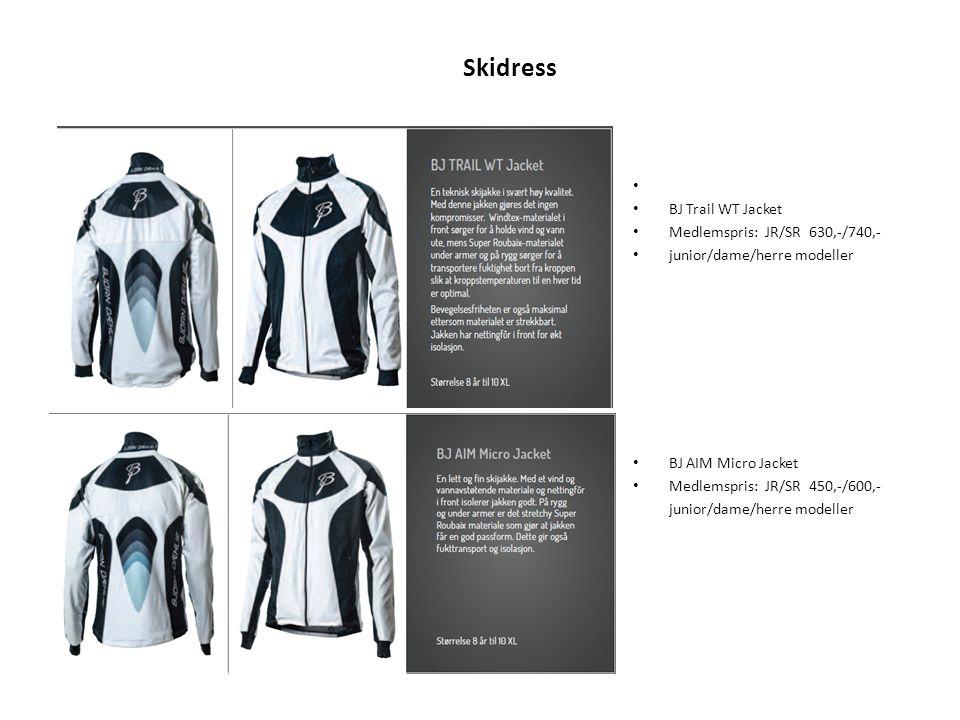Skidress BJ Trail WT Jacket Medlemspris: JR/SR 630,-/740,-