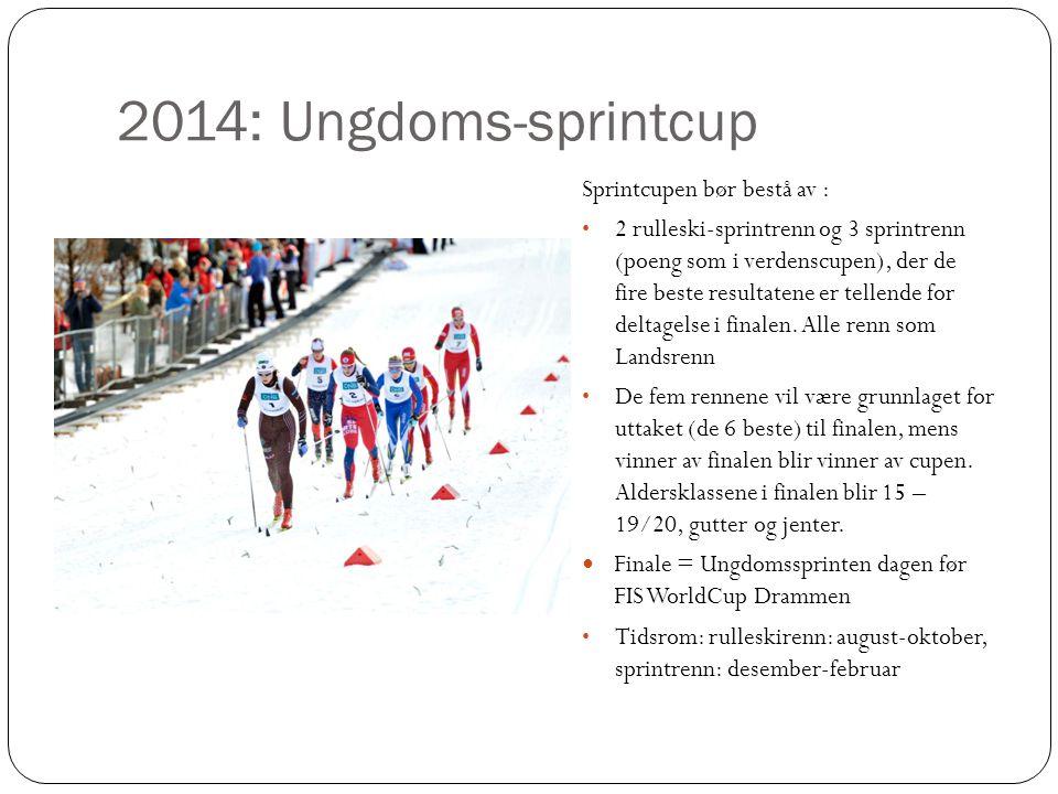 2014: Ungdoms-sprintcup Sprintcupen bør bestå av :