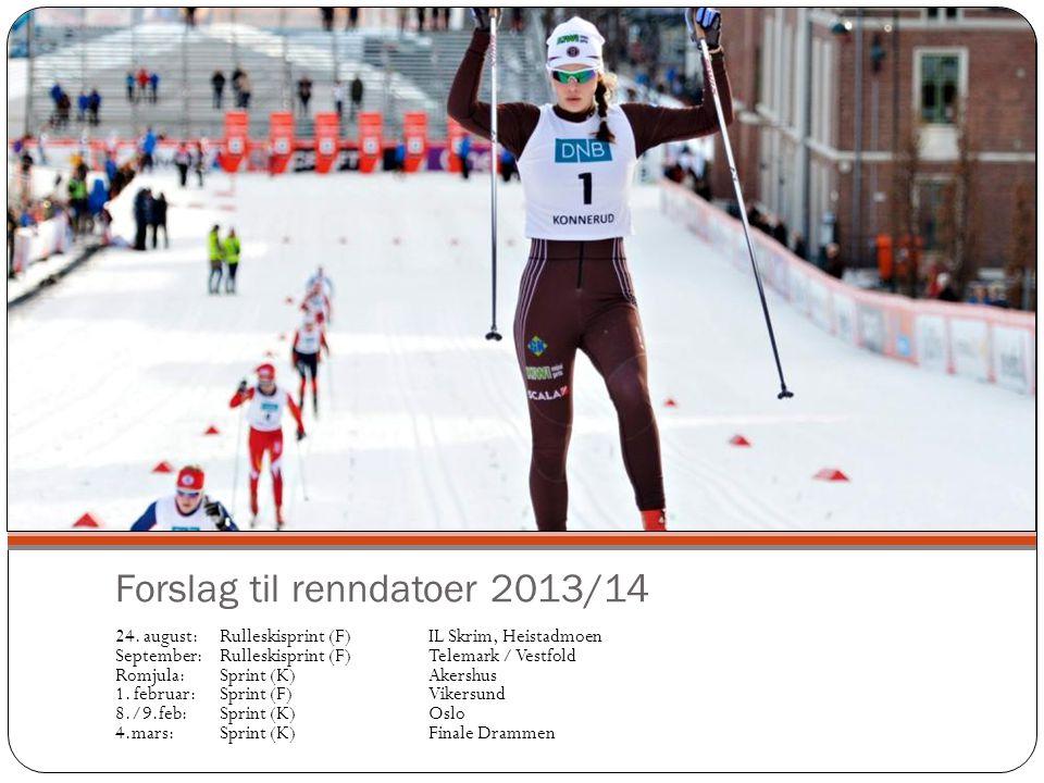 Forslag til renndatoer 2013/14