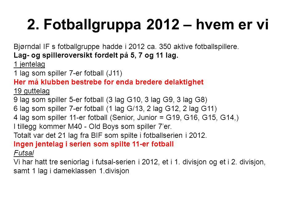 2. Fotballgruppa 2012 – hvem er vi