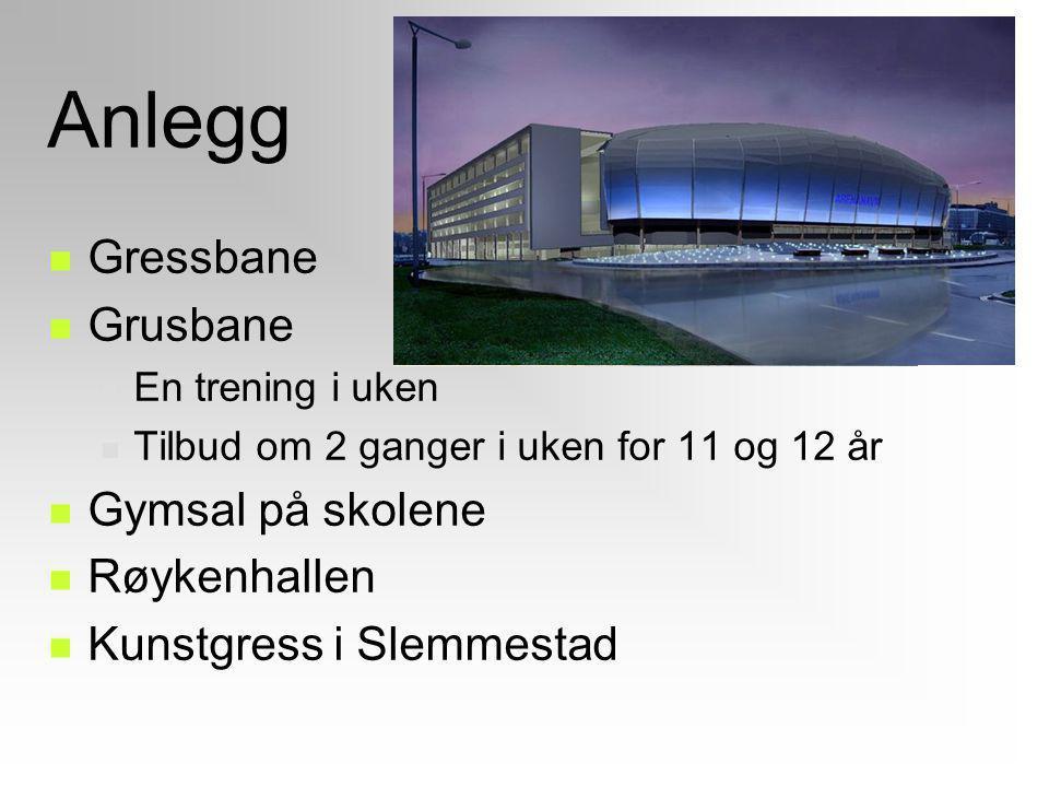 Anlegg Gressbane Grusbane Gymsal på skolene Røykenhallen