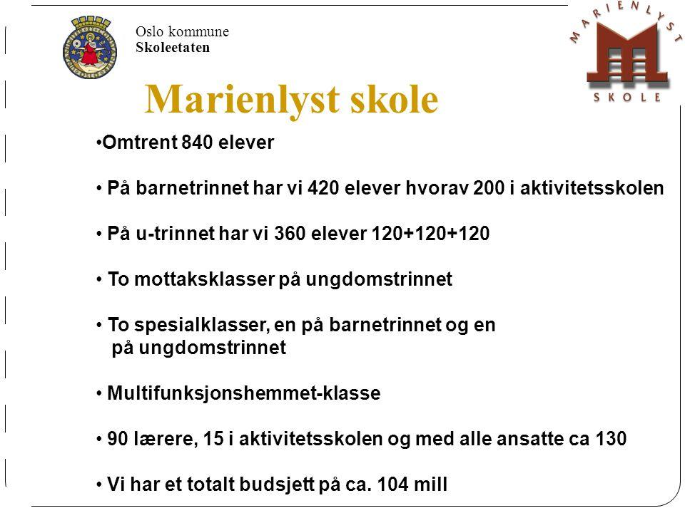 Marienlyst skole 650 elever