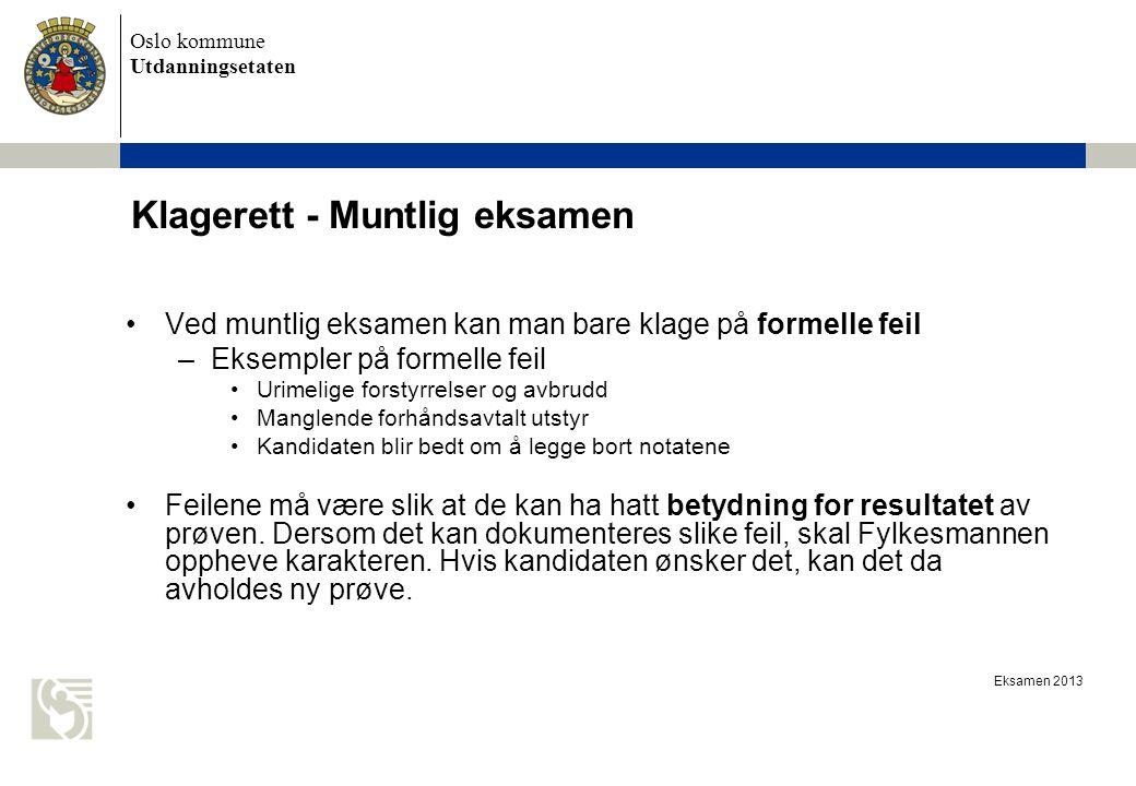 Klagerett - Muntlig eksamen
