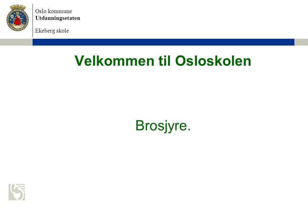 Velkommen til Osloskolen