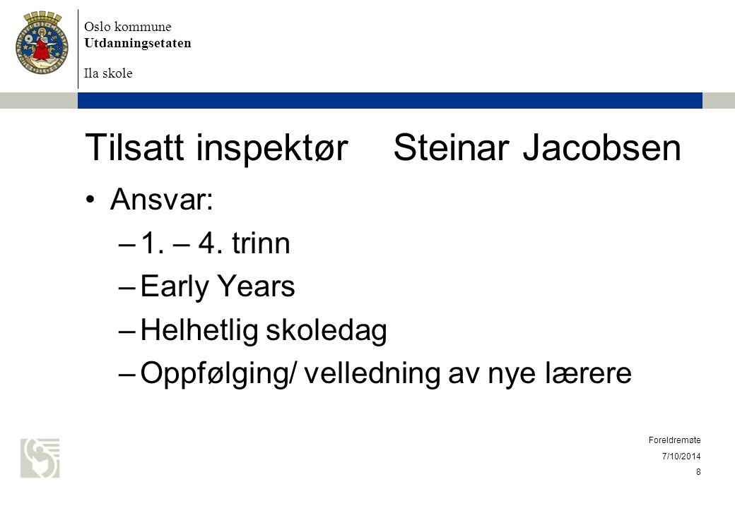 Tilsatt inspektør Steinar Jacobsen