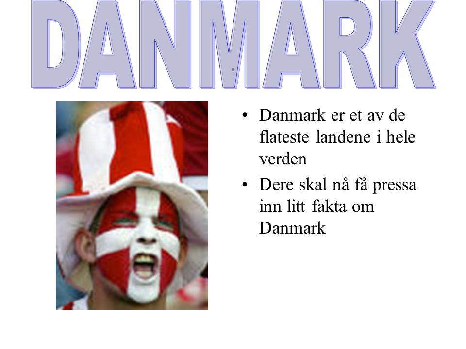 . DANMARK Danmark er et av de flateste landene i hele verden