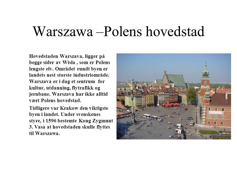 Warszawa –Polens hovedstad