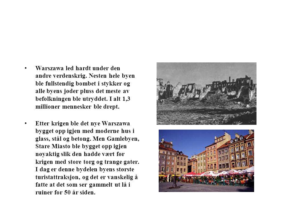 Warszawa led hardt under den andre verdenskrig
